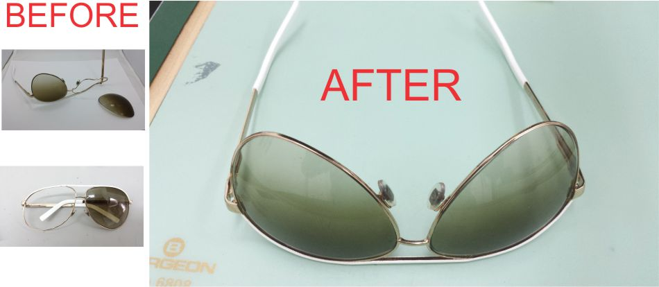 Before - After Eyeglasses Repairs